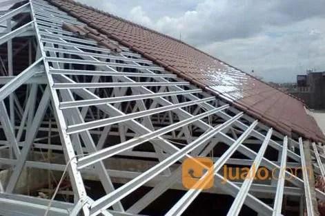pemasangan atap baja ringan balikpapan jasa pasang rangka dengan genteng keramik di