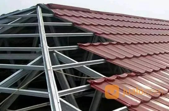 pemasangan atap baja ringan balikpapan jasa pasang rangka dengan genteng metal di