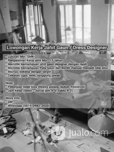 Lowongan Jahit Dibawa Pulang : lowongan, jahit, dibawa, pulang, DICARI, PENJAHIT, DRESS, DESIGNER, Jakarta, Selatan, Jualo