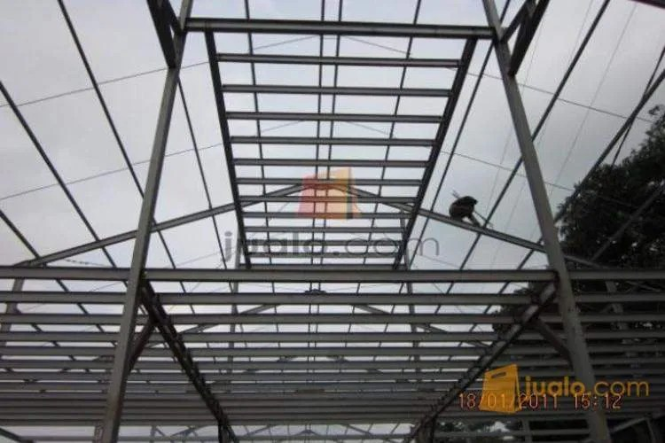 perusahaan baja ringan di jakarta kontruksi pabrik gudang atap