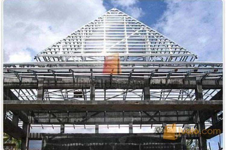 joglo dari baja ringan rangka atap zincalume sky truss bergaransi 15 tahun