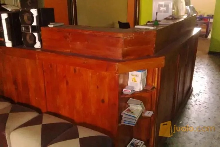 Bekas Cafe Bar Pelayan Dan Casir Kayu Palet Jati Belanda