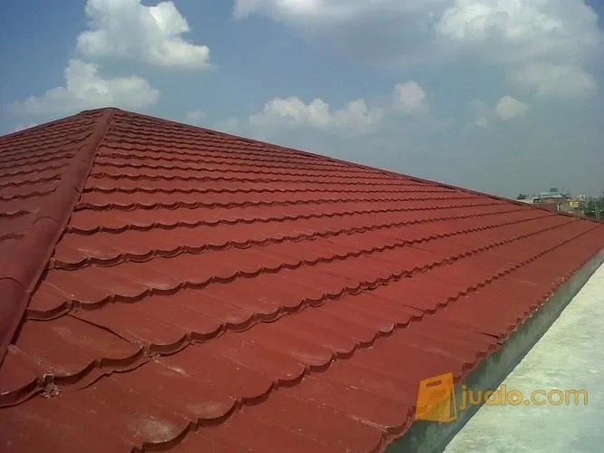 merk atap baja ringan yang bagus rangka plus genteng metal pasir terpasang awet