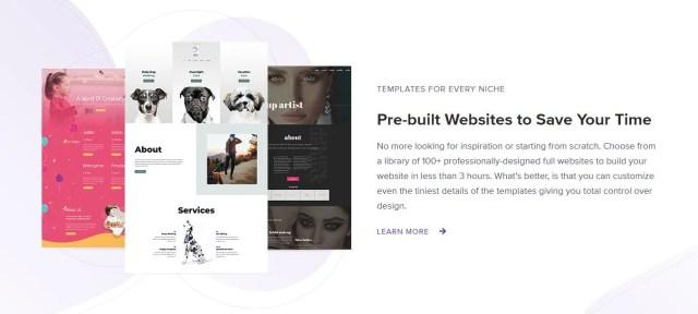 Ultimate Addons Prebuilt Website Templates