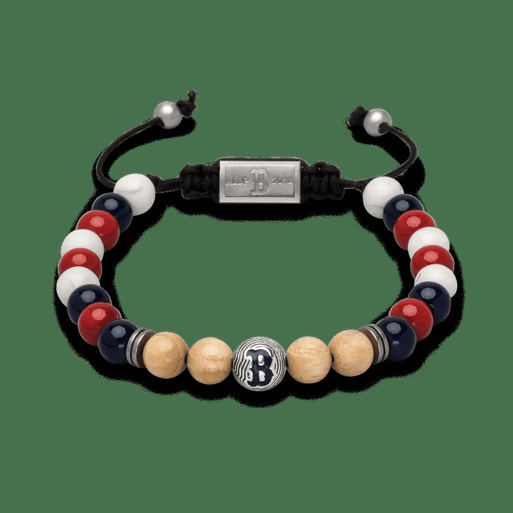 Boston Red Sox Macrame Bracelet 8mm Original Grain