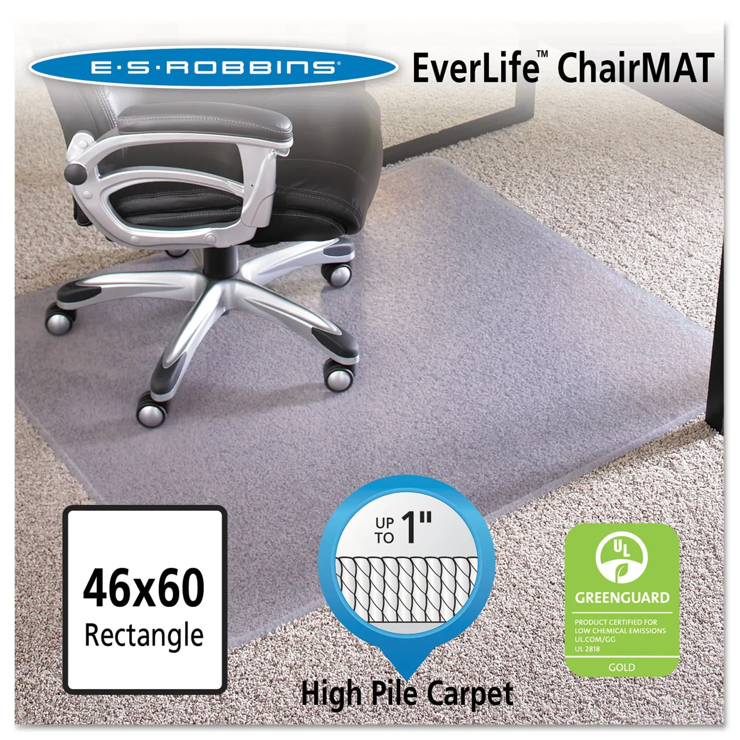 Es Robbins Chair Mat 46x60 Rectangle Chair Mat Performance Series Anchorbar For Carpet Up To 1