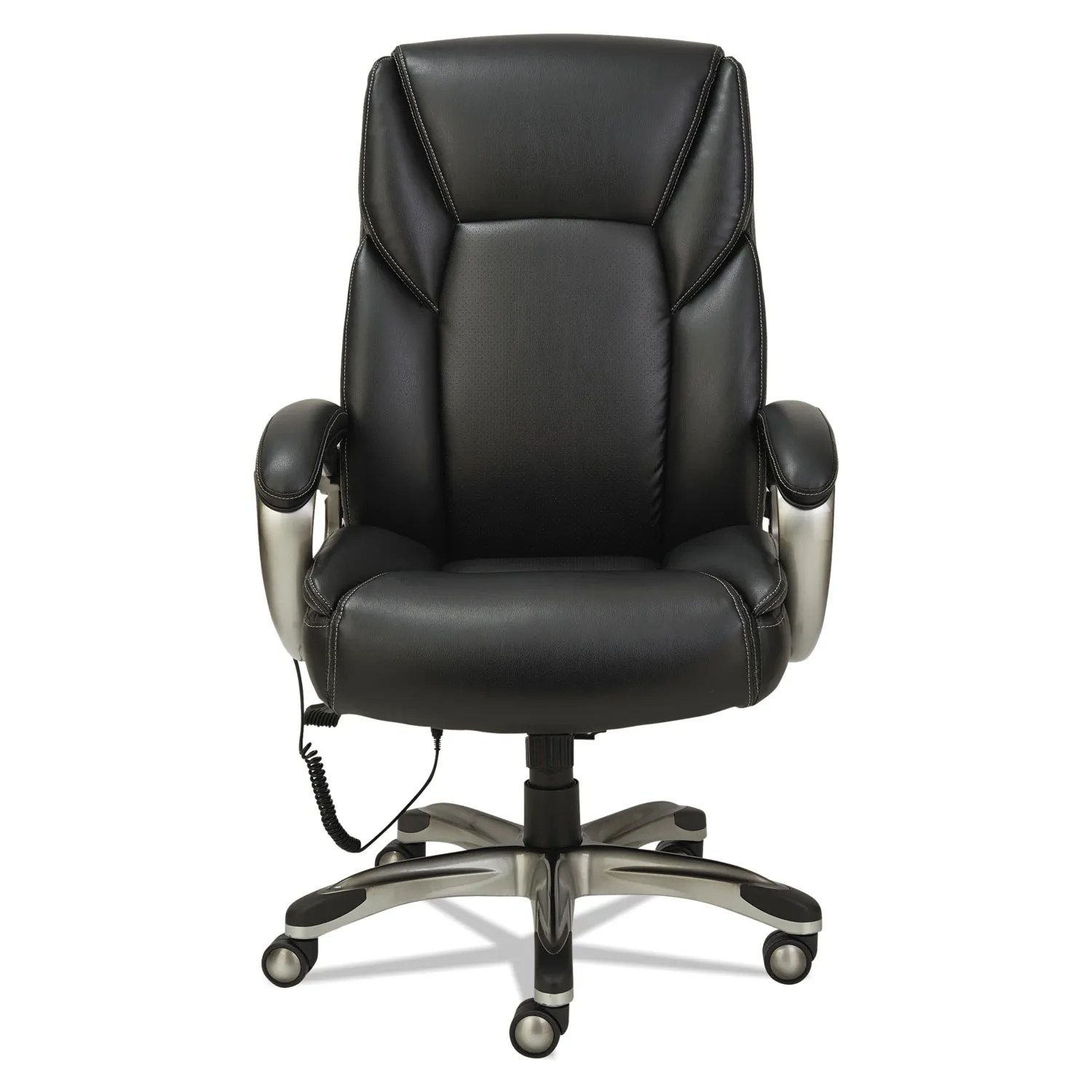 Massage Office Chair Shiatsu Massage Chair Black Silver Base