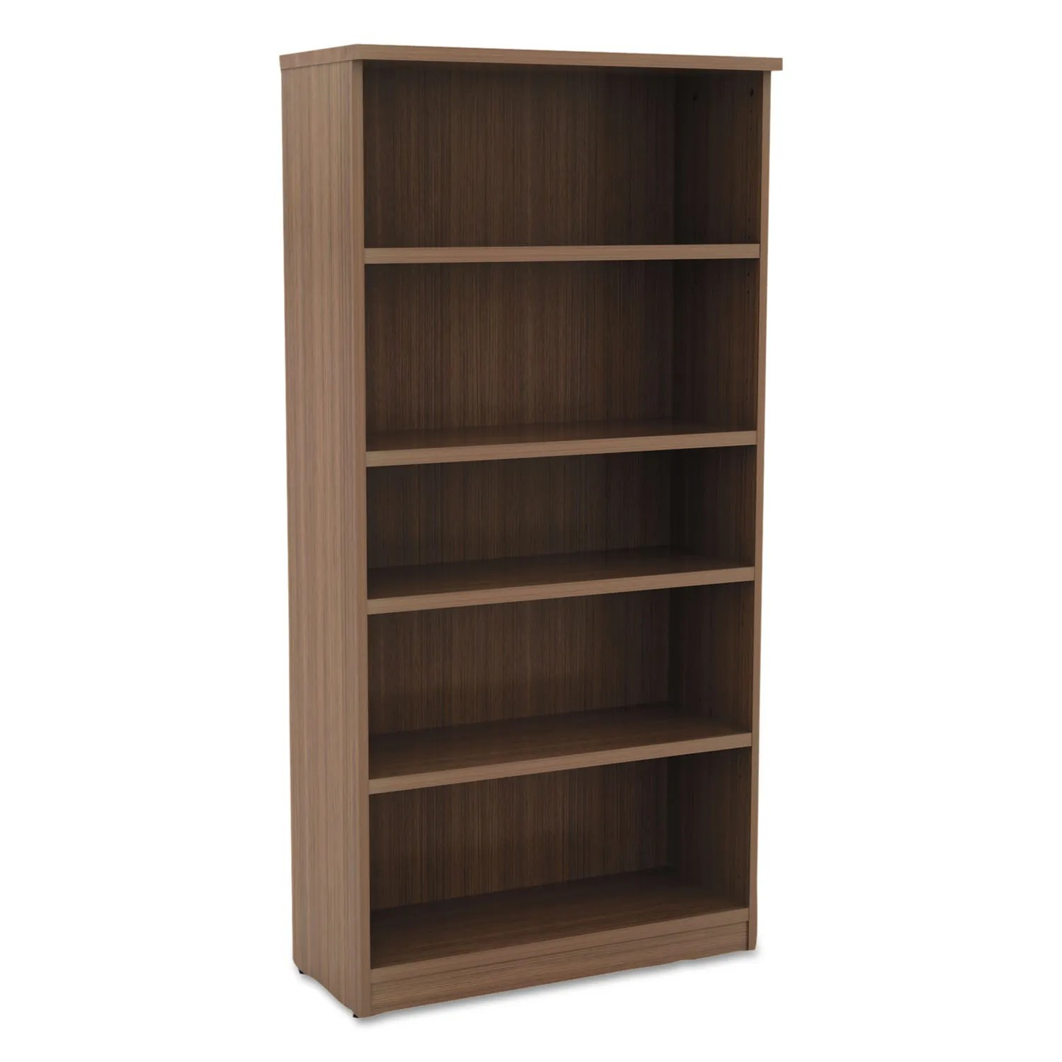 Alera Valencia Series Bookcase Five Shelf 31 3 4w X 14d X 65h Modern Walnut