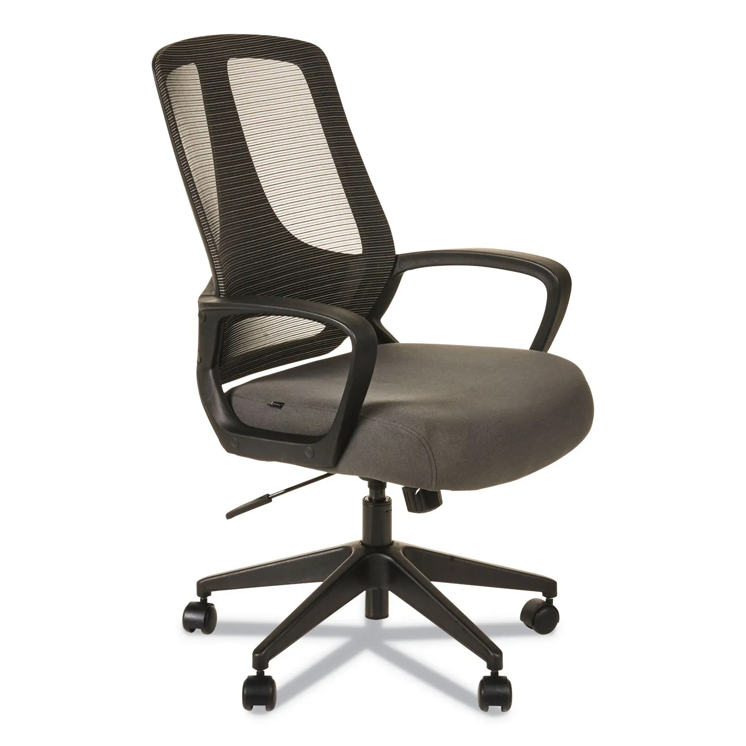 Alera Office Chairs Alera Mb Series Mesh Mid Back Office Chair Gray Black