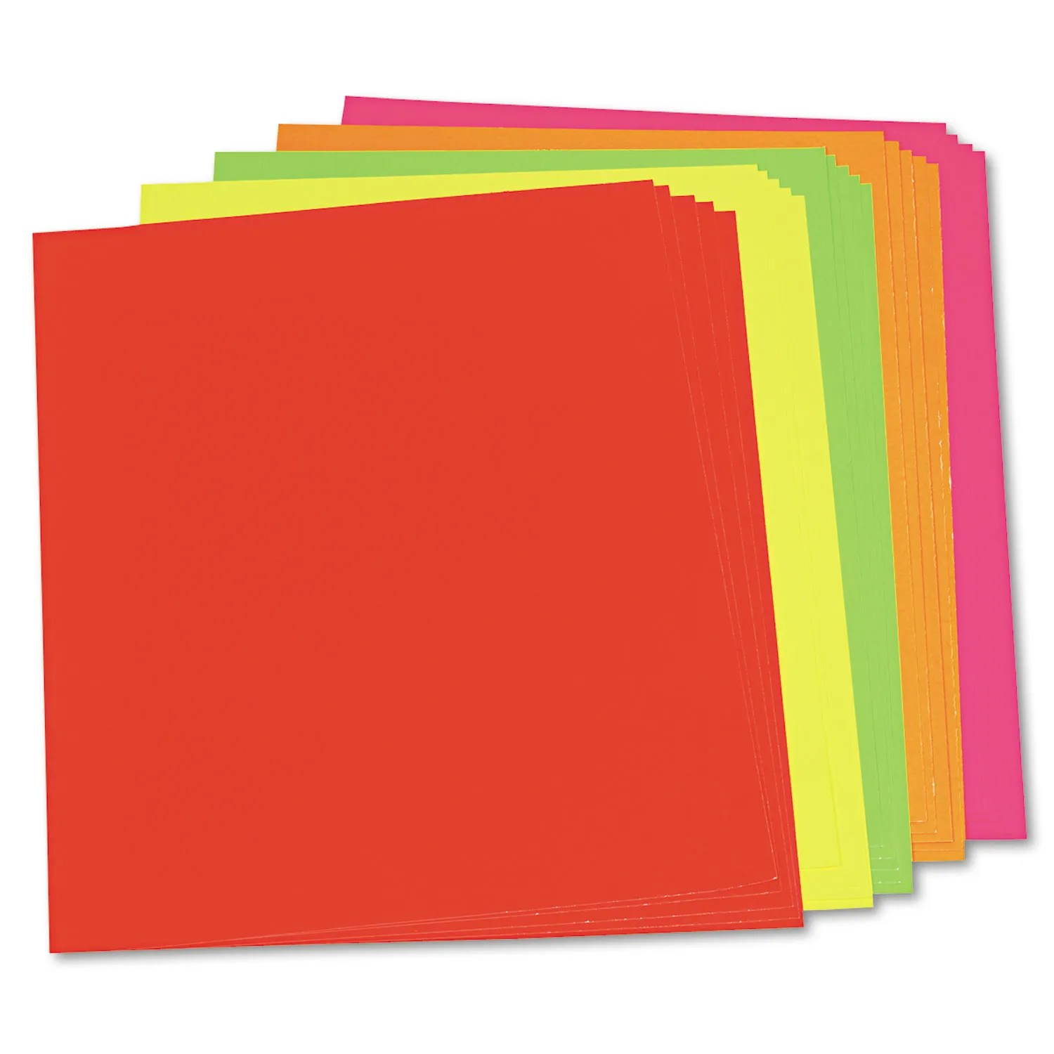 neon color poster board 28 x 22 green orange pink red yellow 25 carton