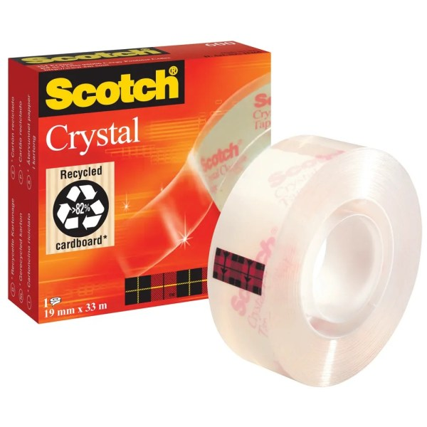 Scotch Tape 19mm x 33m Crystal Clear Tape 600