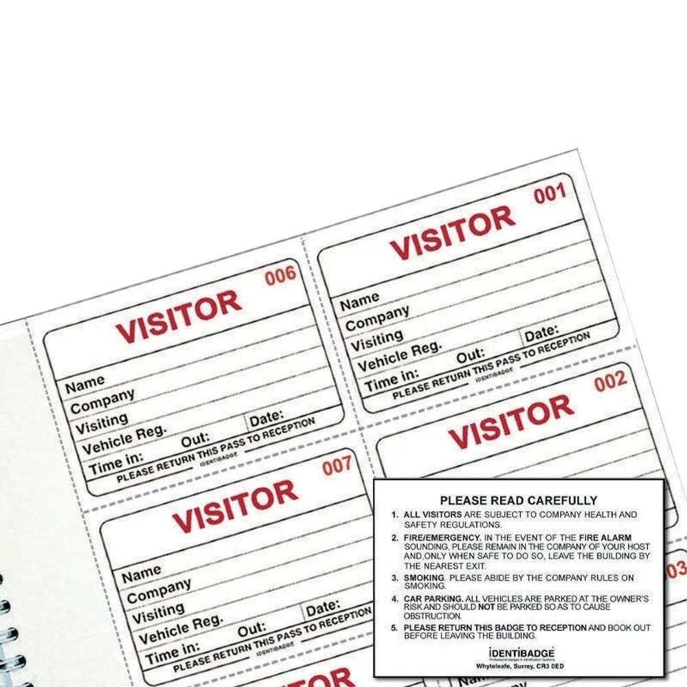 IdentiBadge Visitors Book Badge Refills, Pack of 300