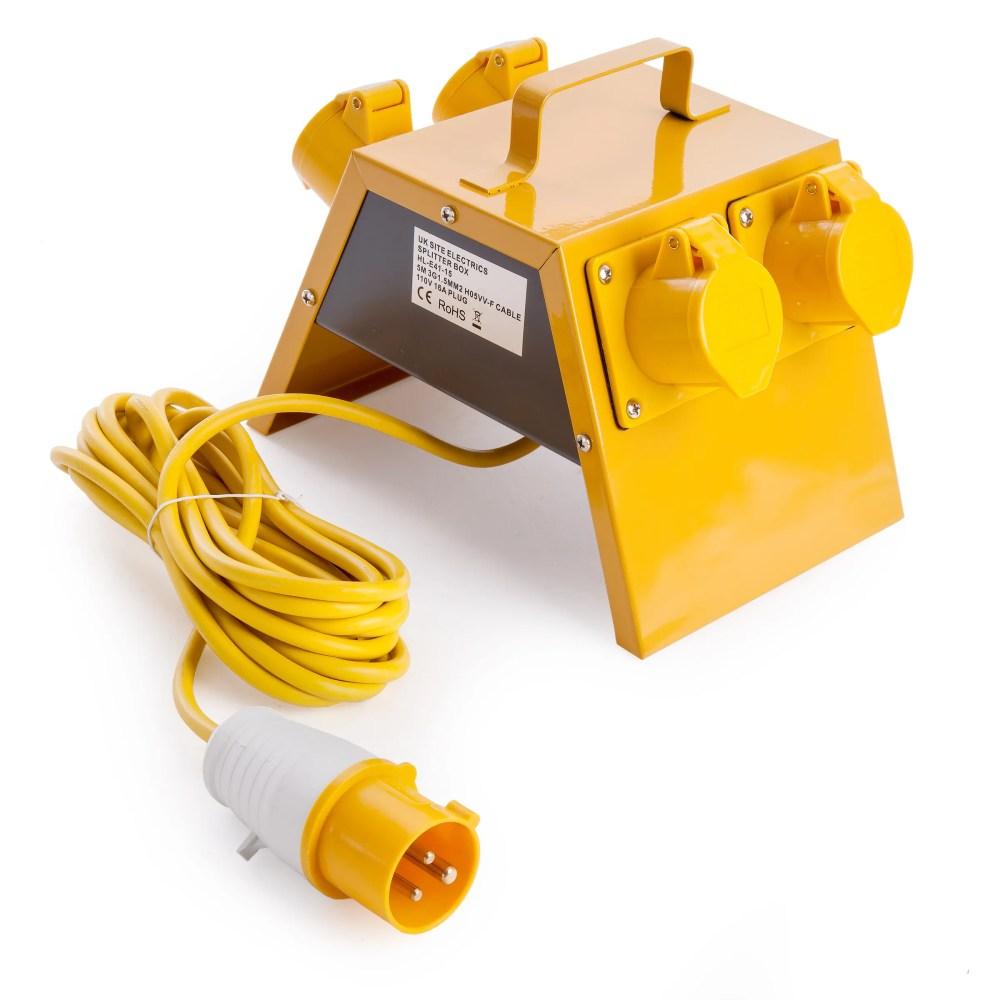 medium resolution of toolstop toolstop 4 way splitter box 110v 21955