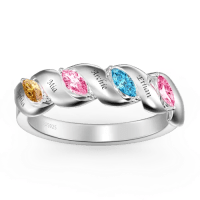 Personalised Promise Ring Crystals Changeable - New