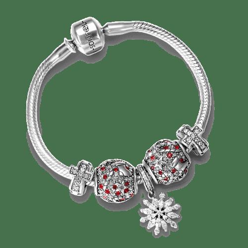 Christmas Blessing Complete Charm Bracelet Silver