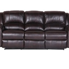 Futura Leather And Vinyl Power Reclining Sofa With Headrest In Stone Sure Fit Stretch Pinstripe 2 Pc Slipcover Search The Furniture Mart Alex Dual