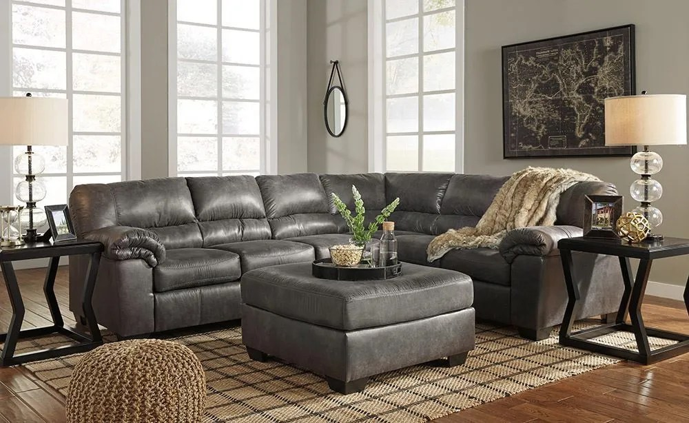 Bladen Slate Three Piece Sectional  The Furniture Mart