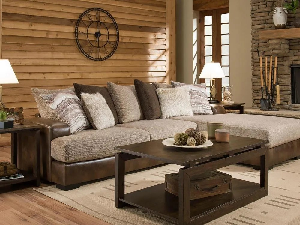 Wesley Toast Two Piece Sectional Unclaimed Freight Furniture