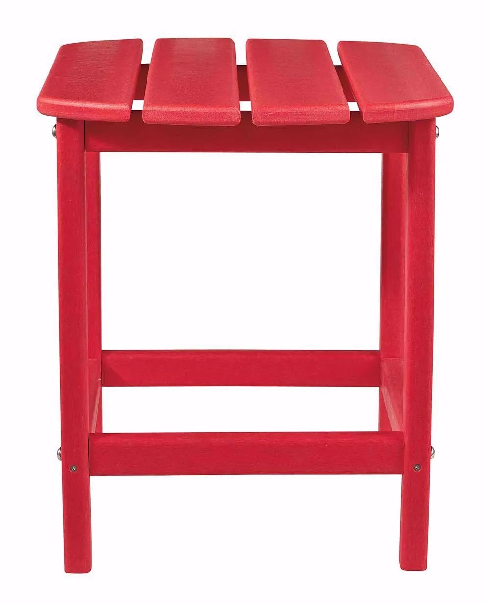Red Adirondack Chairs Sundown Treasure Red Adirondack Chair With End Table