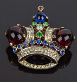 broszka Crown Trifari