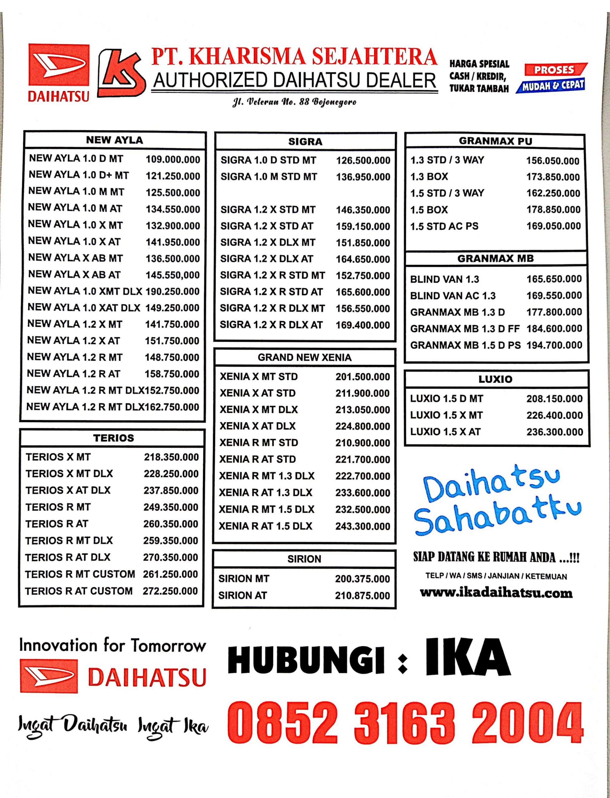 brosur mobil daihatsu bojonegoro 2020