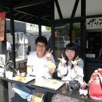 奥多摩ドライブにいらしてお立ち寄り下さったカップルです今日は、陽射しが強めながら空気は清々しく、外のカウンターにお座りいただくのに適した陽気ですね️ ご来店ありがとうございました️ http://ikadamitake.com#炭鳥 #蔵 #筏 #ikada #Tokyo #mitake #御岳 #御岳山 #mitakesan #御岳山ロックガーデン #武蔵御嶽神社 #多摩川 #御岳渓谷 #奥多摩フィッシングセンター #奥多摩 #ブドウ山椒 #おにぎり #味玉 #tasty #バイク #ロードバイク #カヌー #カヤック #リバーSUP #デッドエンド #ジムニー #ペット可 #奥多摩ドライブ