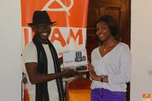 Visite de Levis Togo, bénéficiaire du Programme Kôrè Qualité Entrepreneuriat de l'IKAM
