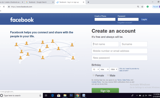 How to Create Facebook Account in 2 Easy Steps 2019