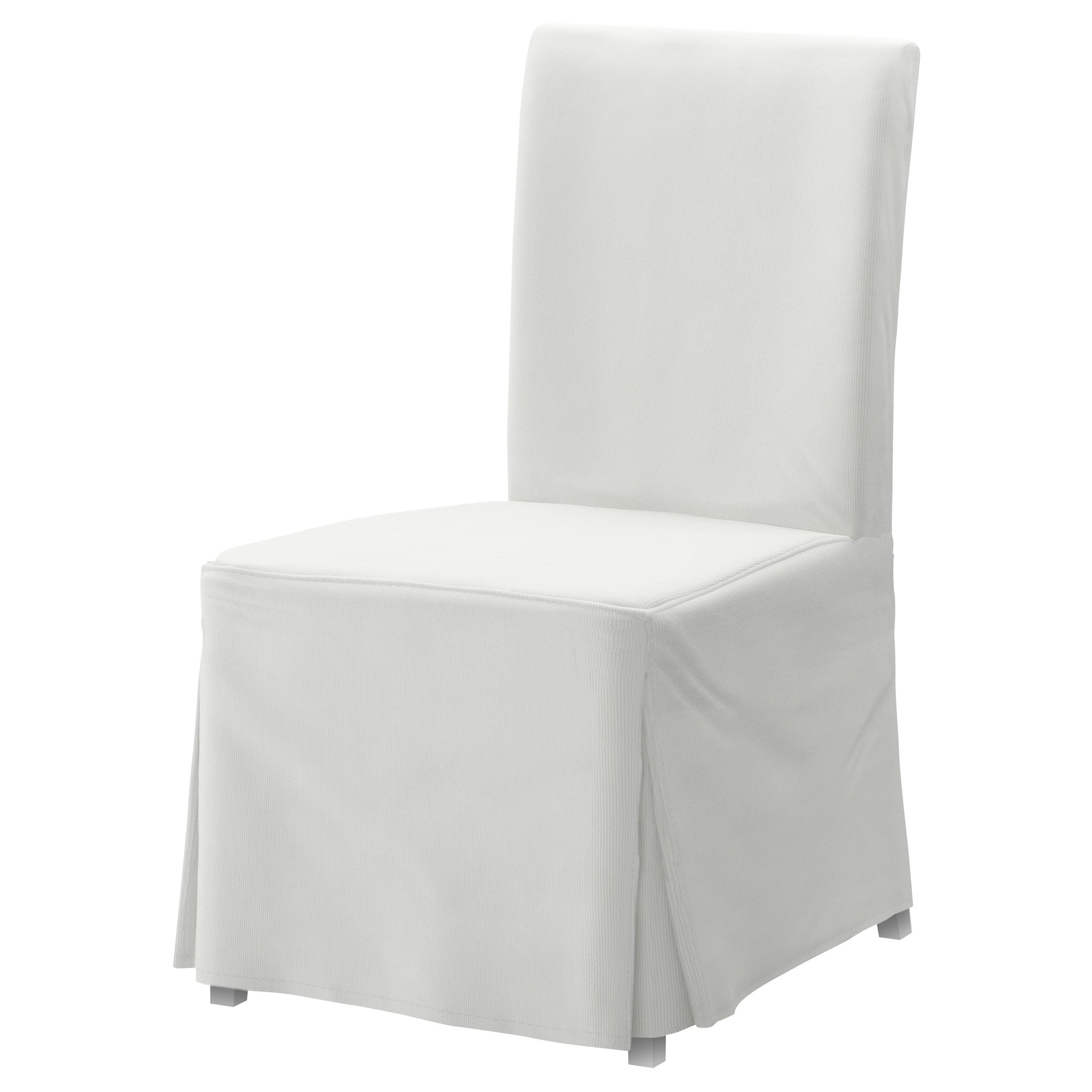 Slip Cover For Chair Henriksdal Chair With Long Cover White Blekinge White