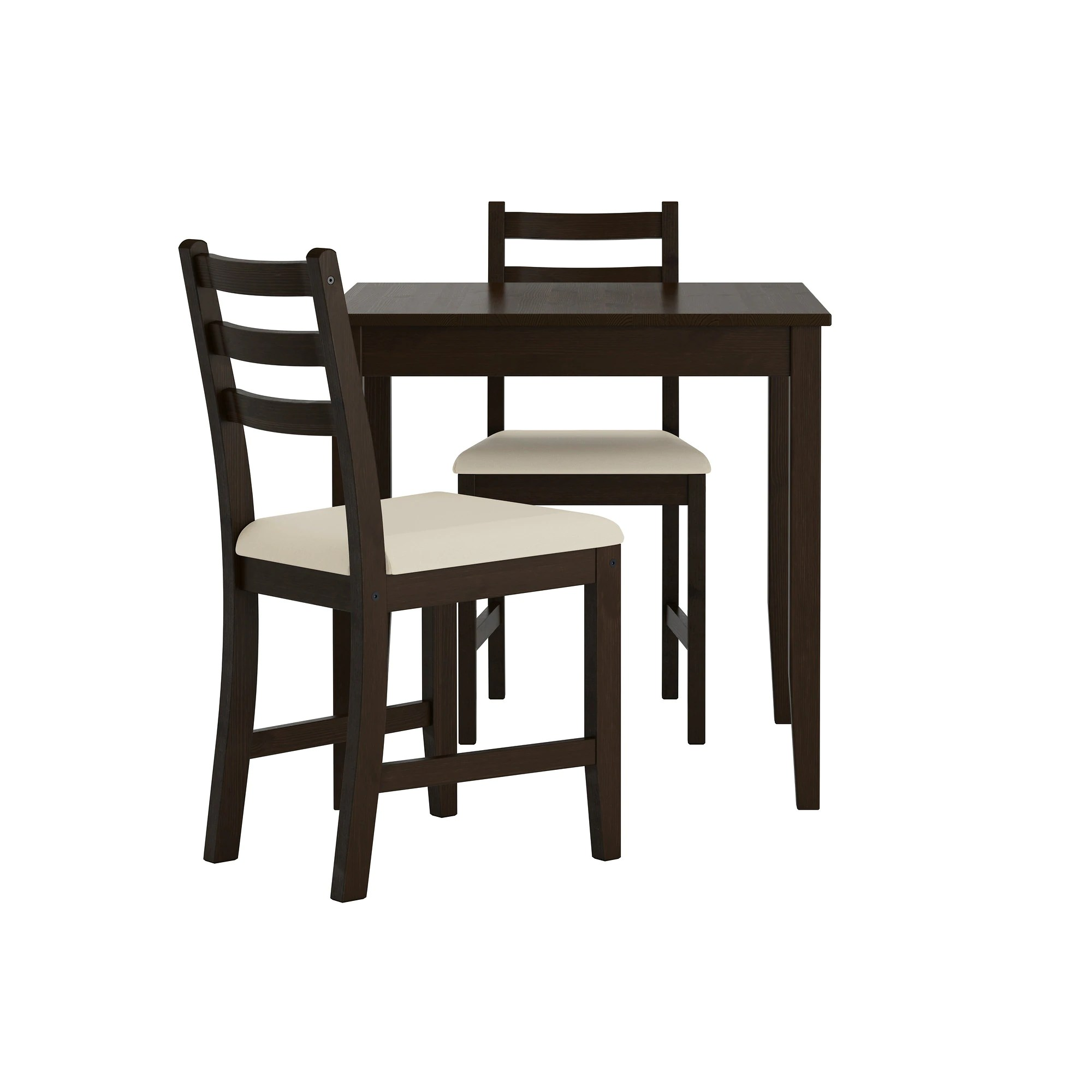 Table With 2 Chairs Lerhamn Table And 2 Chairs Black Brown Vittaryd Beige