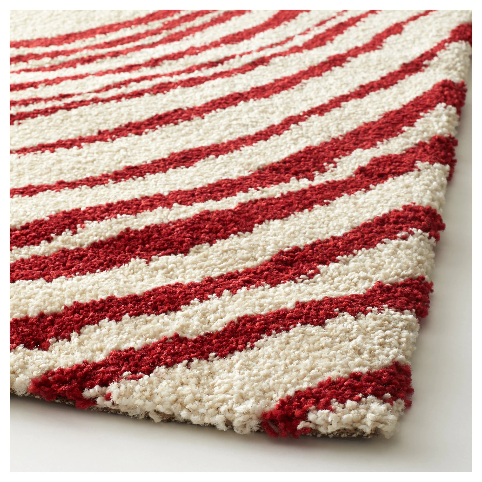 Teppich Ikea At Eivor Cirkel Rug High Pile White Red