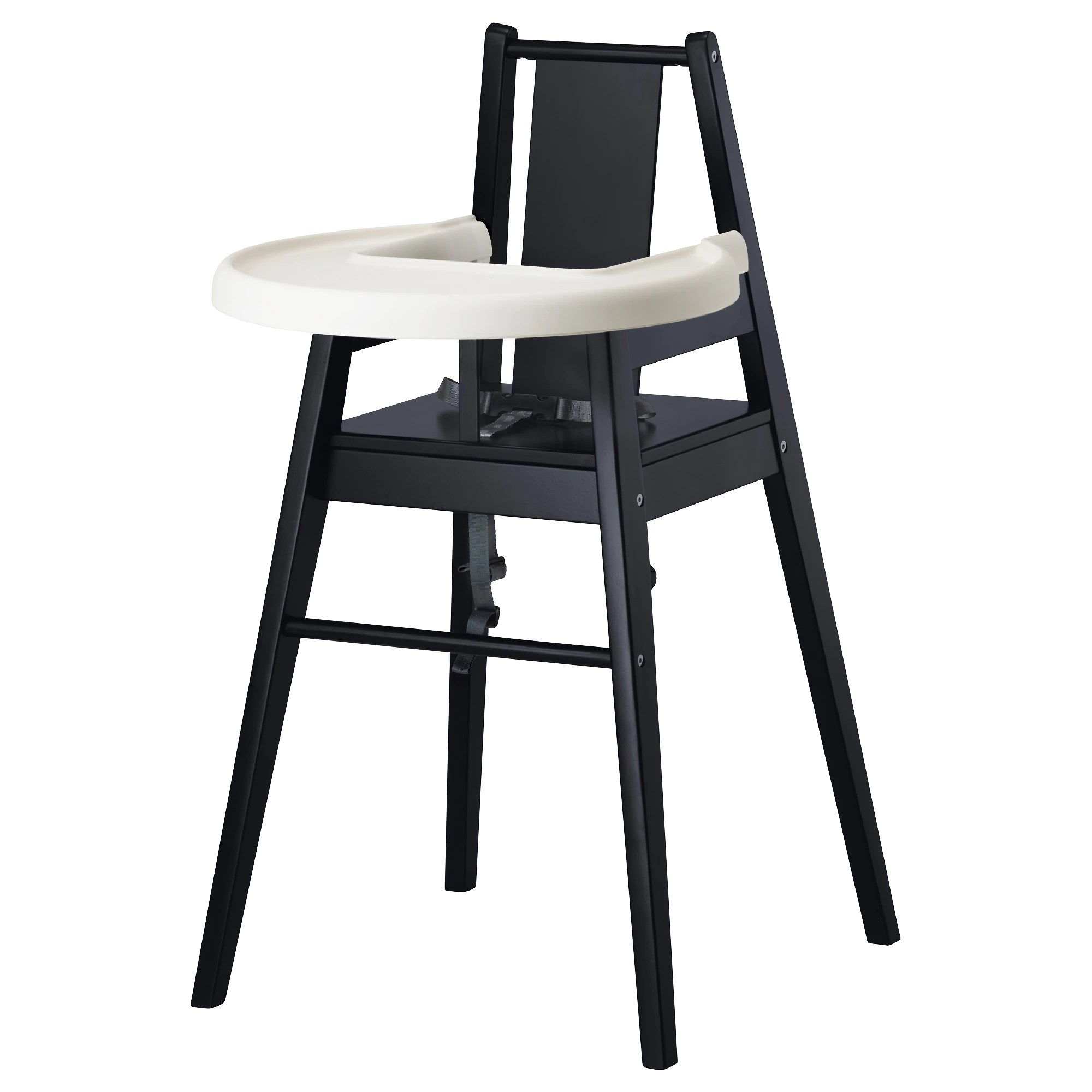 Chair High Chair BlÅmes High Chair With Tray Black Birch