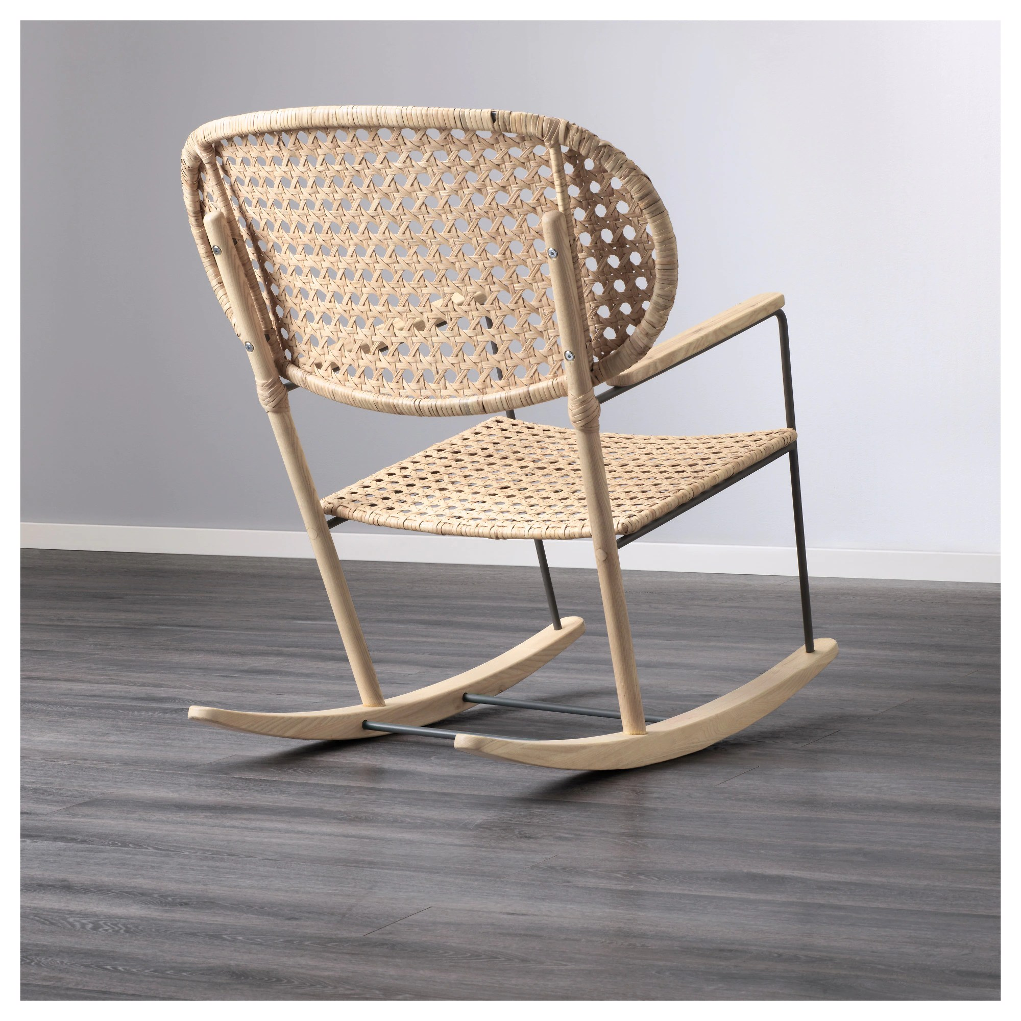 Wicker Rocking Chair GrÖnadal Rocking Chair Gray Natural
