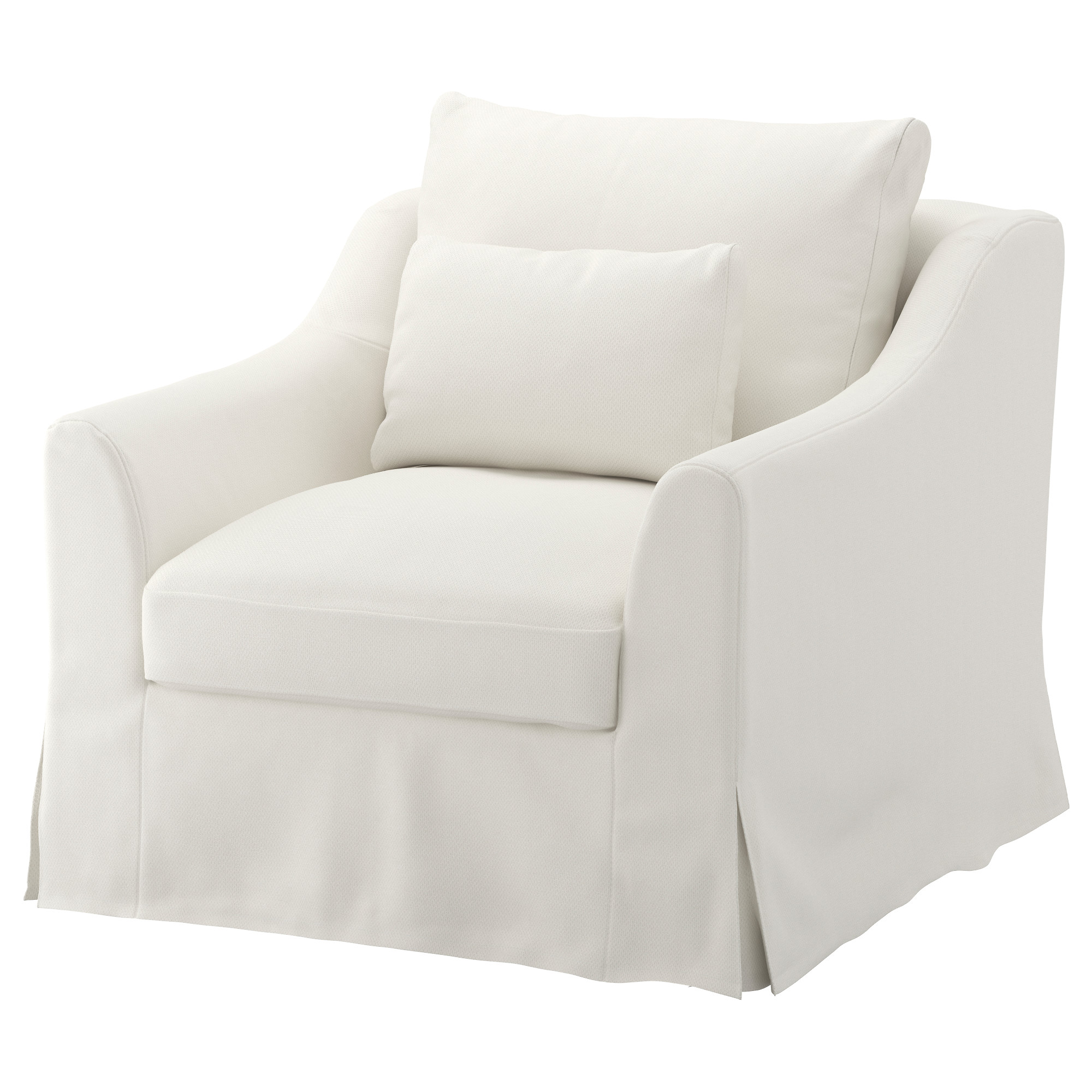 Slip Cover For Chair FÄrlÖv Armchair Flodafors White