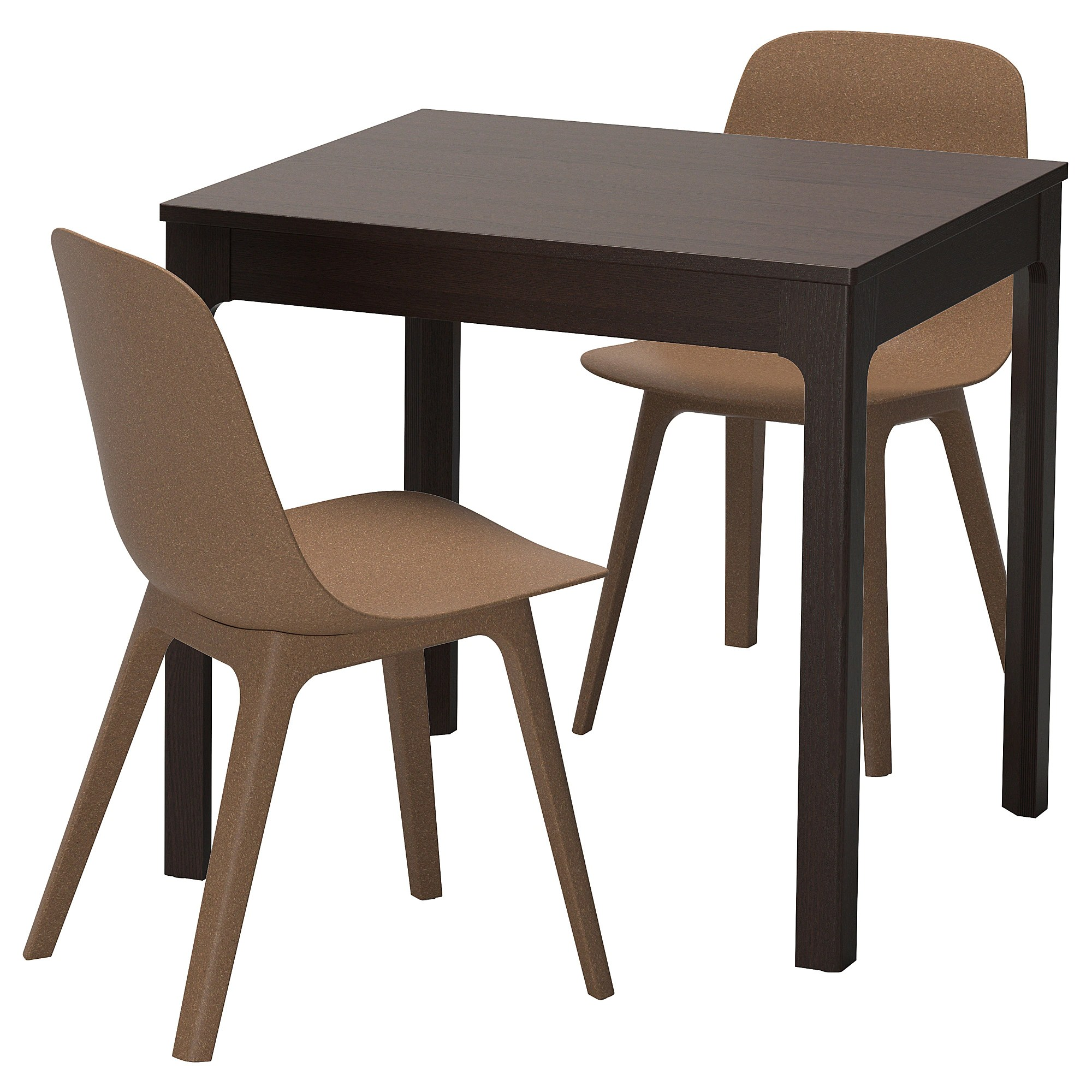 Table With 2 Chairs Ekedalen Odger Table And 2 Chairs Dark Brown Brown