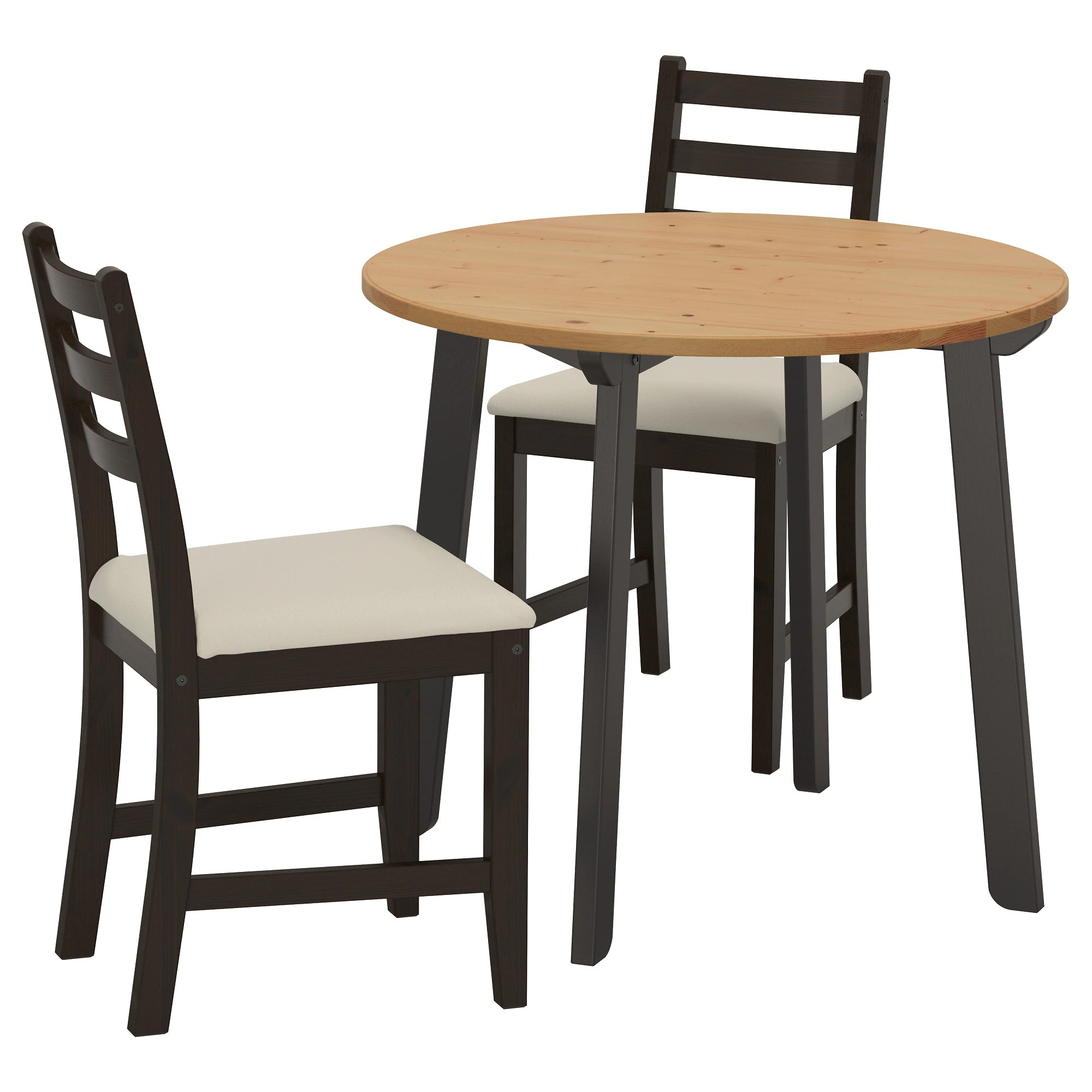 Table With 2 Chairs Gamlared Lerhamn Table And 2 Chairs Light Antique Stain Black Brown Vittaryd Beige