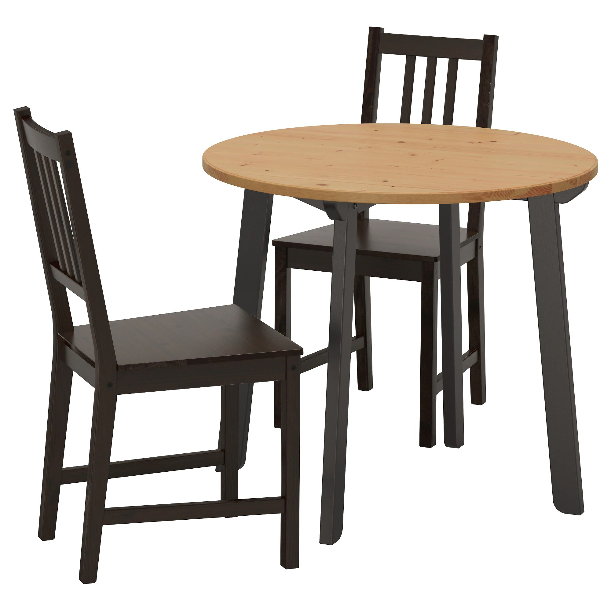 Table With Chairs Table And 2 Chairs Gamlared Stefan Light Antique Stain Brown Black