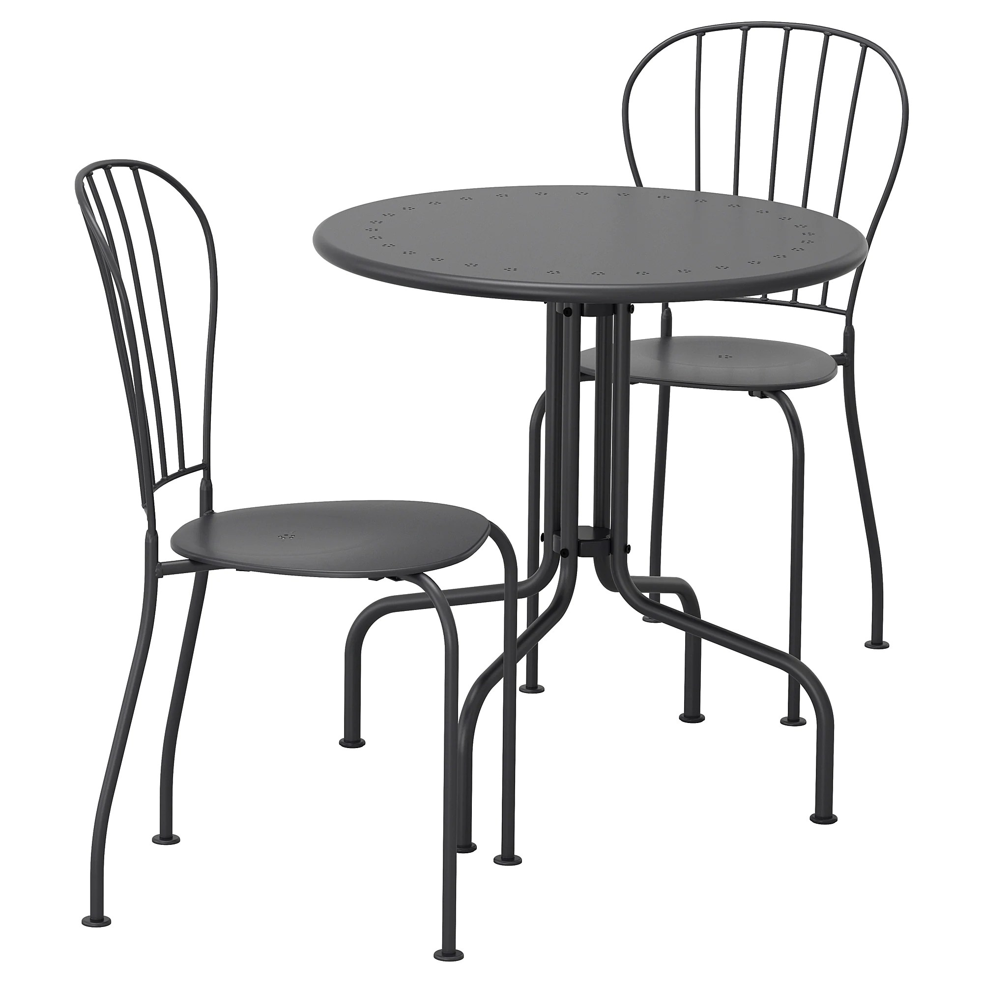 Outdoor Table And Chair Set LÄckÖ Table 2 Chairs Outdoor Gray