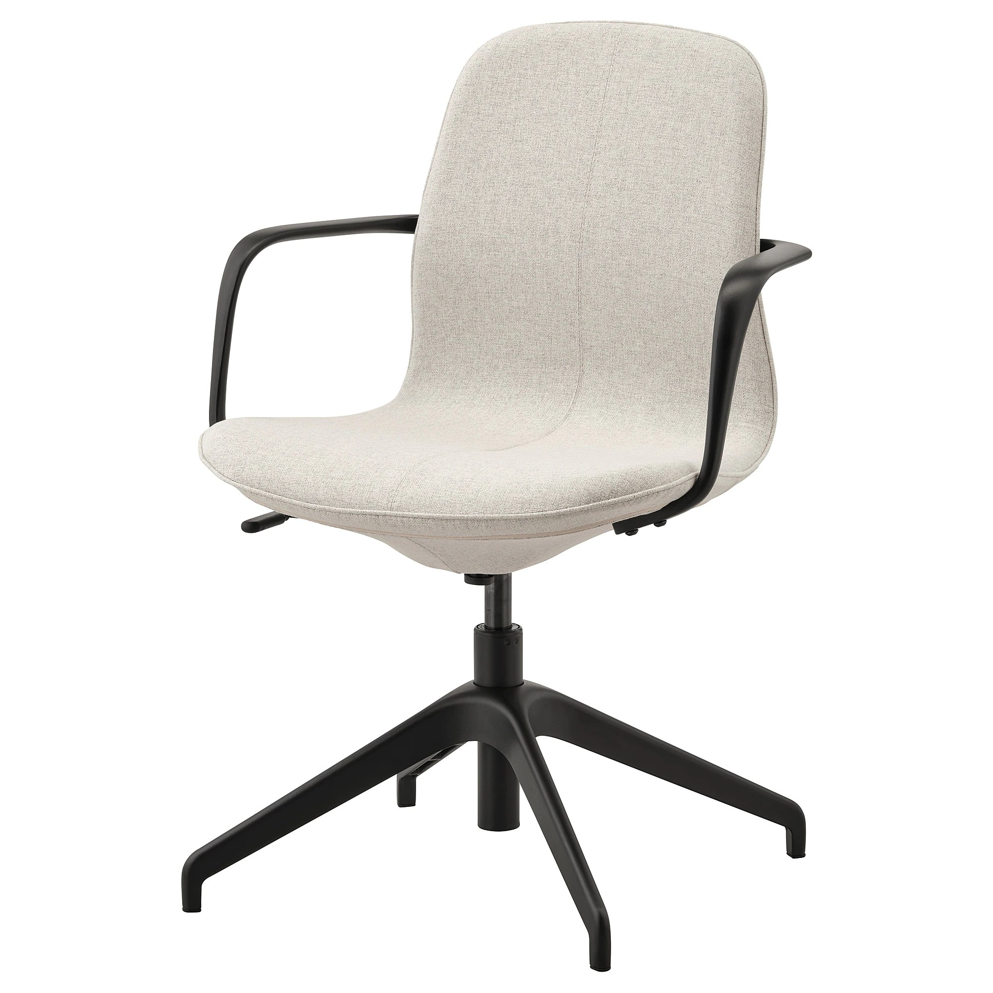 How To Adjust Office Chair Conference Chair With Armrests LÅngfjÄll Gunnared Beige Black