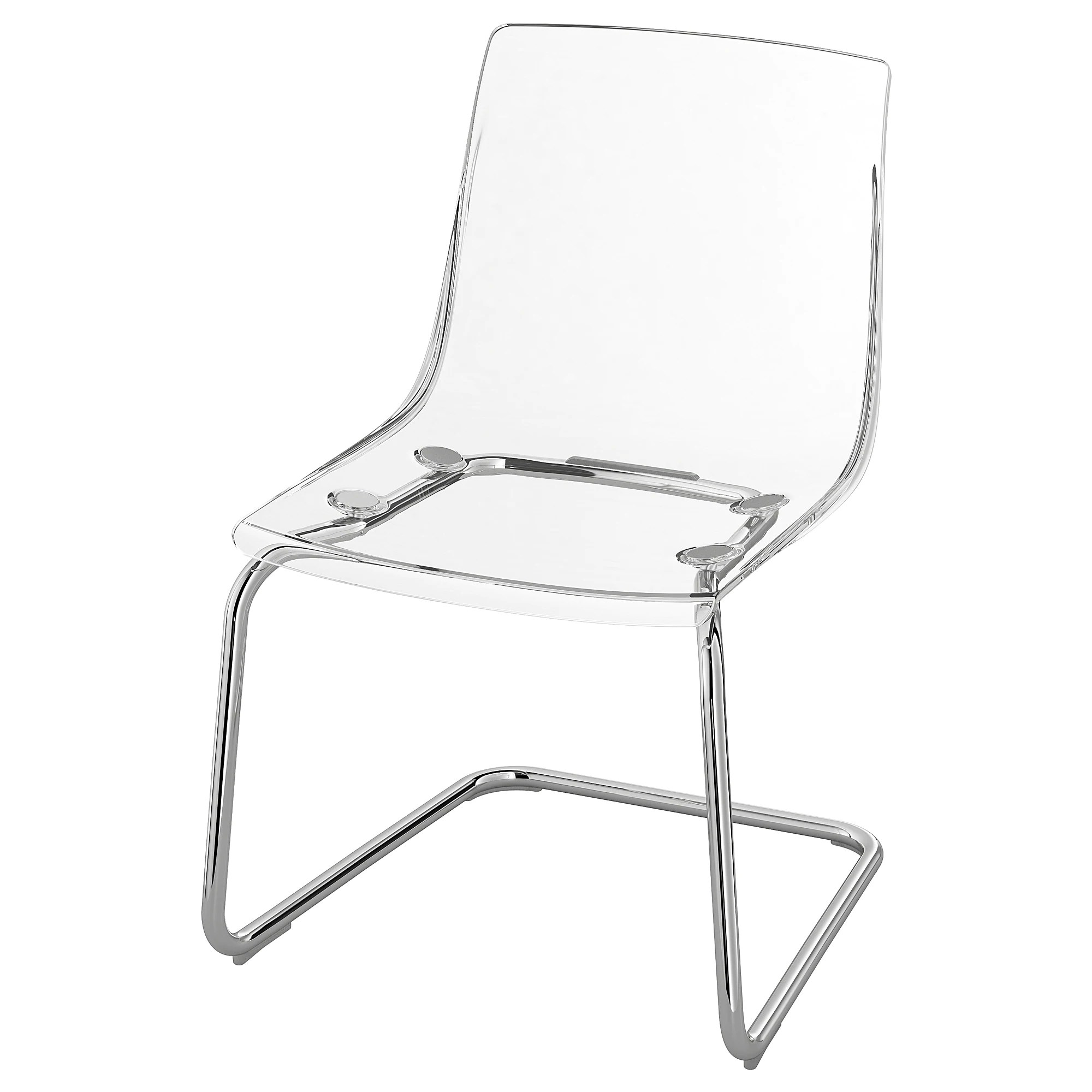 Clear Vanity Chair Chair Tobias Transparent Chrome Plated