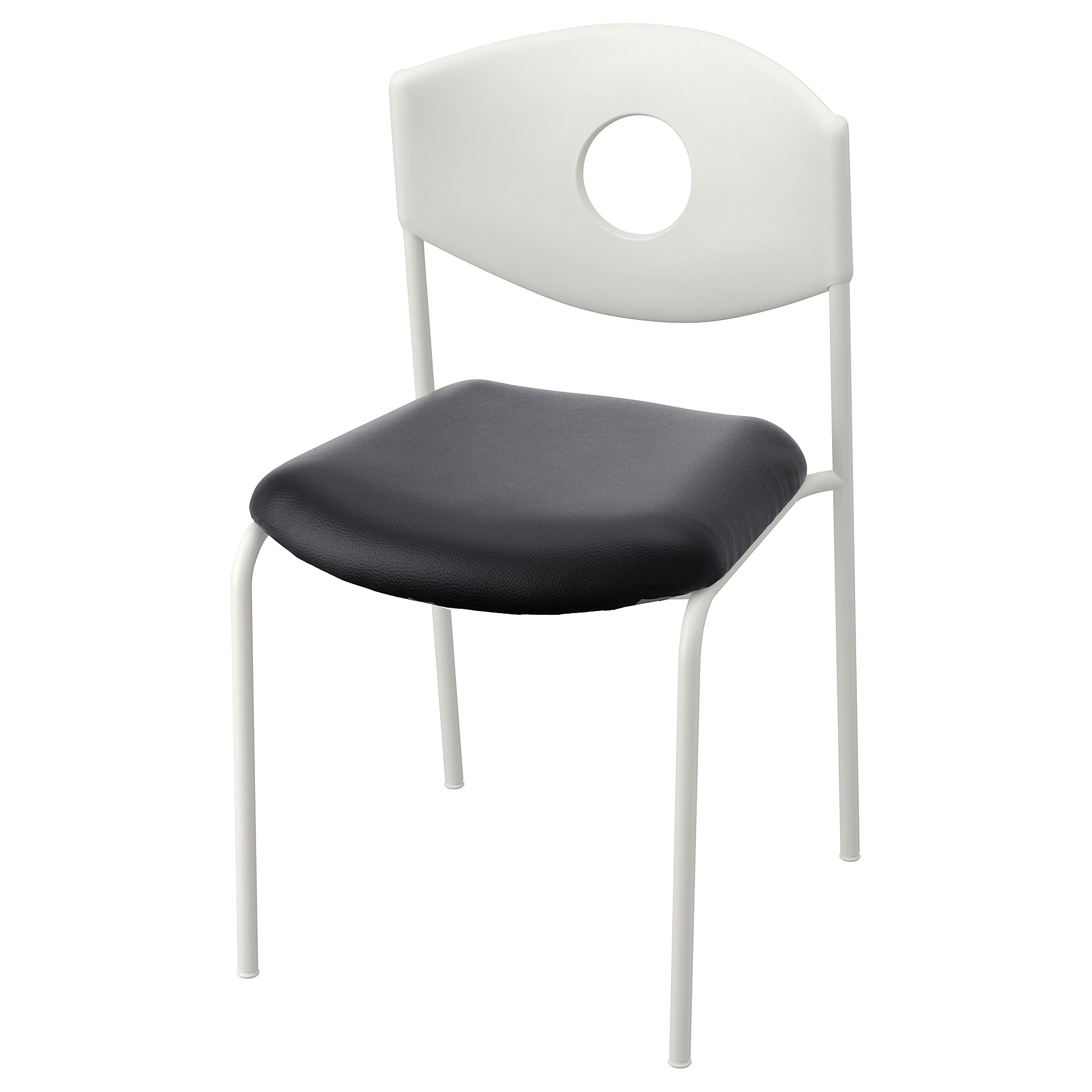 White Stackable Chairs Stoljan Conference Chair White Black