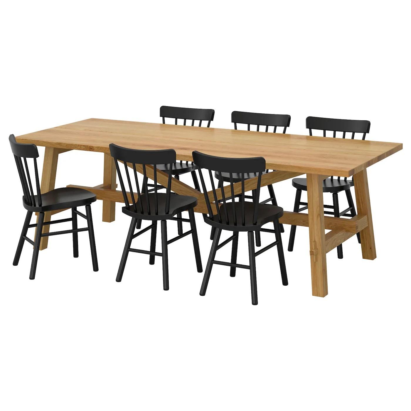 Eettafel Set 6 Personen.Eettafel 6 Stoelen Ikea Inklapbare Tafel Ikea Nieuw Bamboe Stoelen