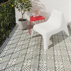 MÄLLSTEN Suelo exterior / suelo terraza gris/ blanco IKEA