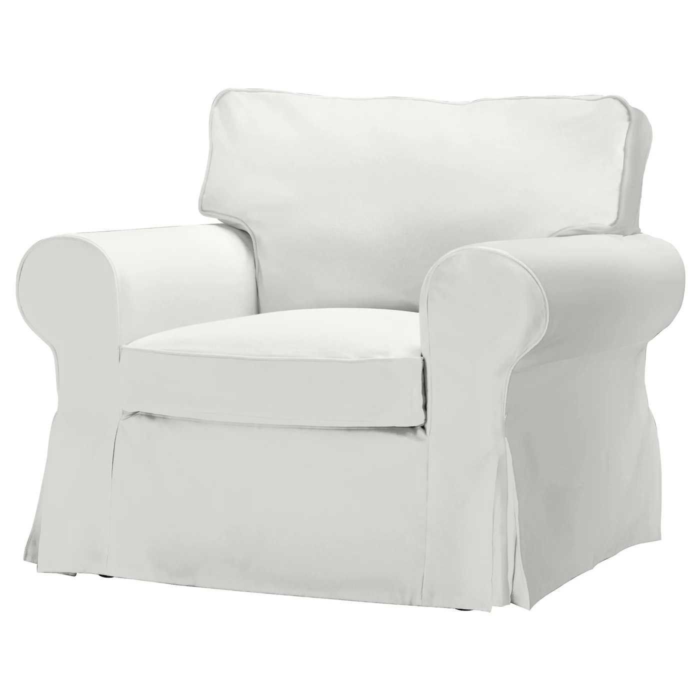 White Chair Slipcover Ektorp Armchair Blekinge White Ikea
