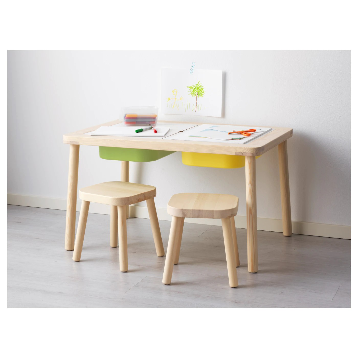 Child's Table And Chairs Flisat Children 39s Table 83 X 58 Cm Ikea