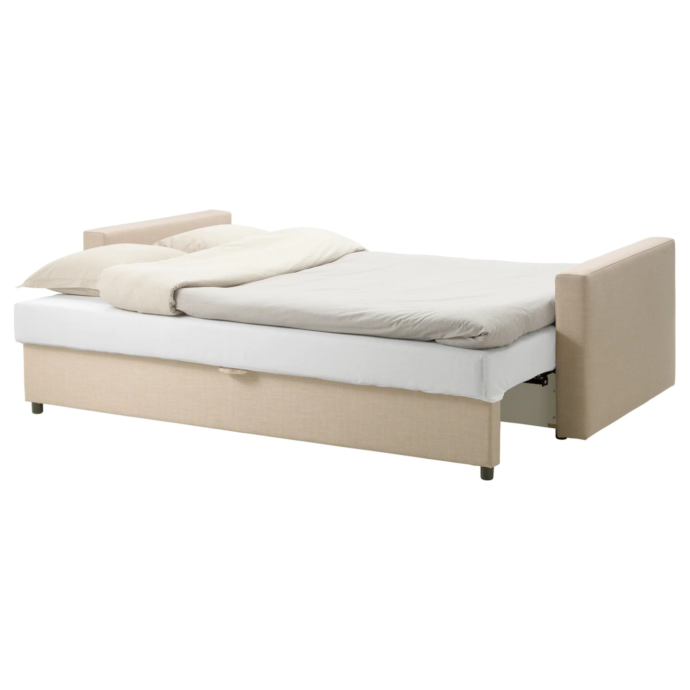 Chair That Converts To A Bed Friheten Three Seat Sofa Bed Skiftebo Beige Ikea