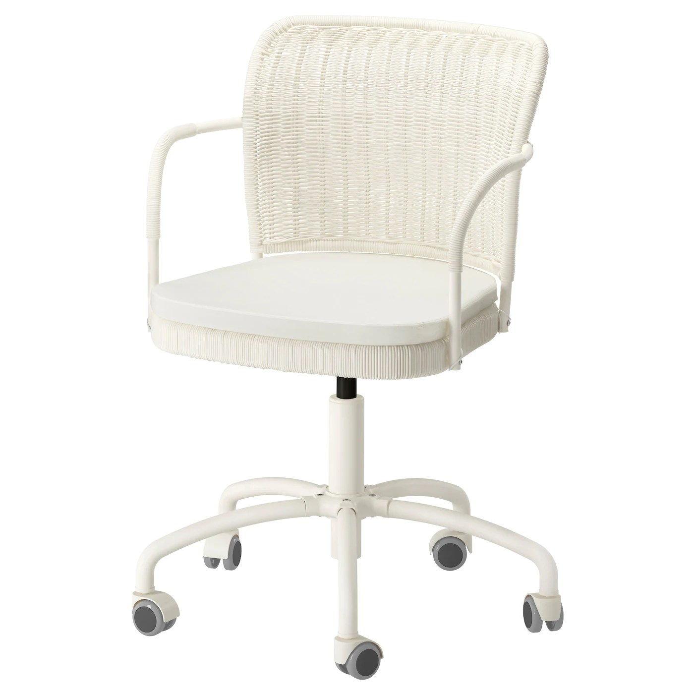 White Chair Ikea Gregor Swivel Chair White Blekinge White Ikea