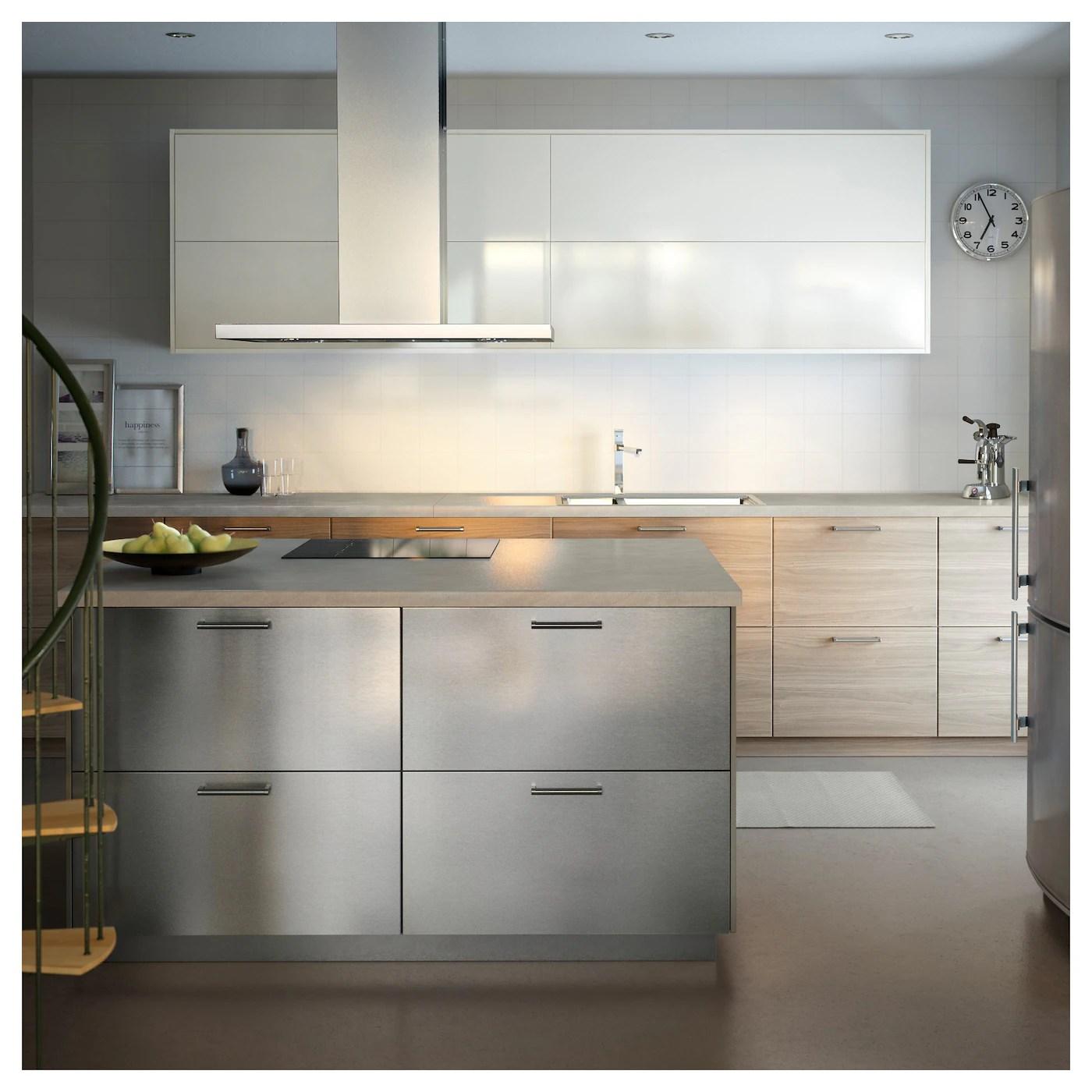 Ikea Kuche Edelstahl Front Modern Kuche Mit Veddinge Fronten In