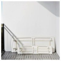 IKEA PS 2014 Table+2 benches, in/outdoor White/foldable - IKEA