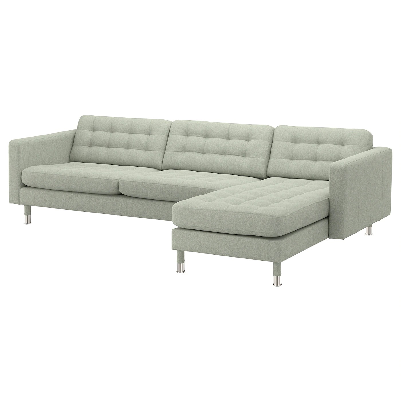 Ikea Landskrona Sofa Landskrona 4 Seat Sofa With Chaise Longue Gunnared Light